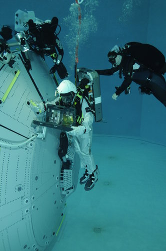 Alexander Gerst during EVA training