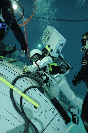 Luca Parmitano during EVA training