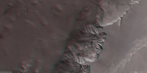Melas Chasma on Mars in 3D