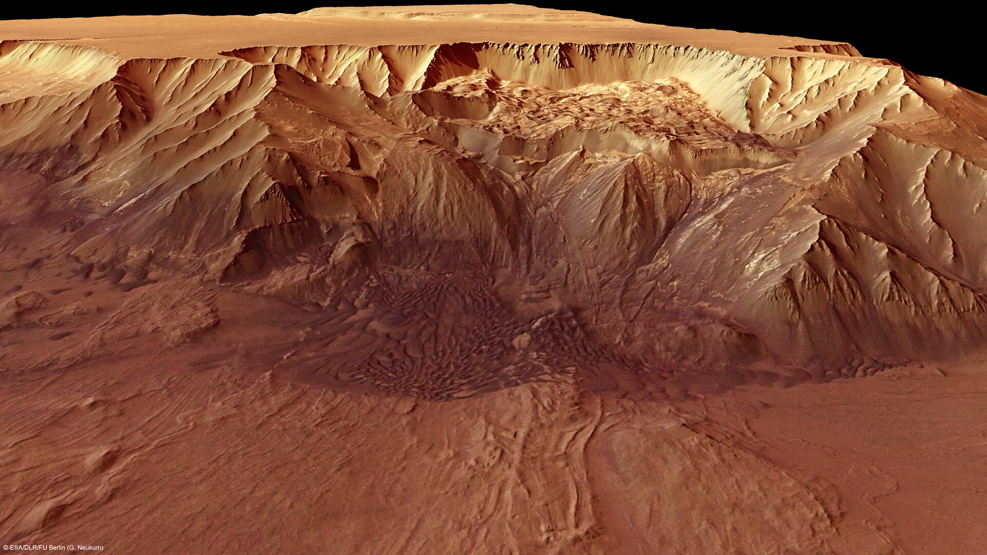 Perspective view of the Melas Chasma