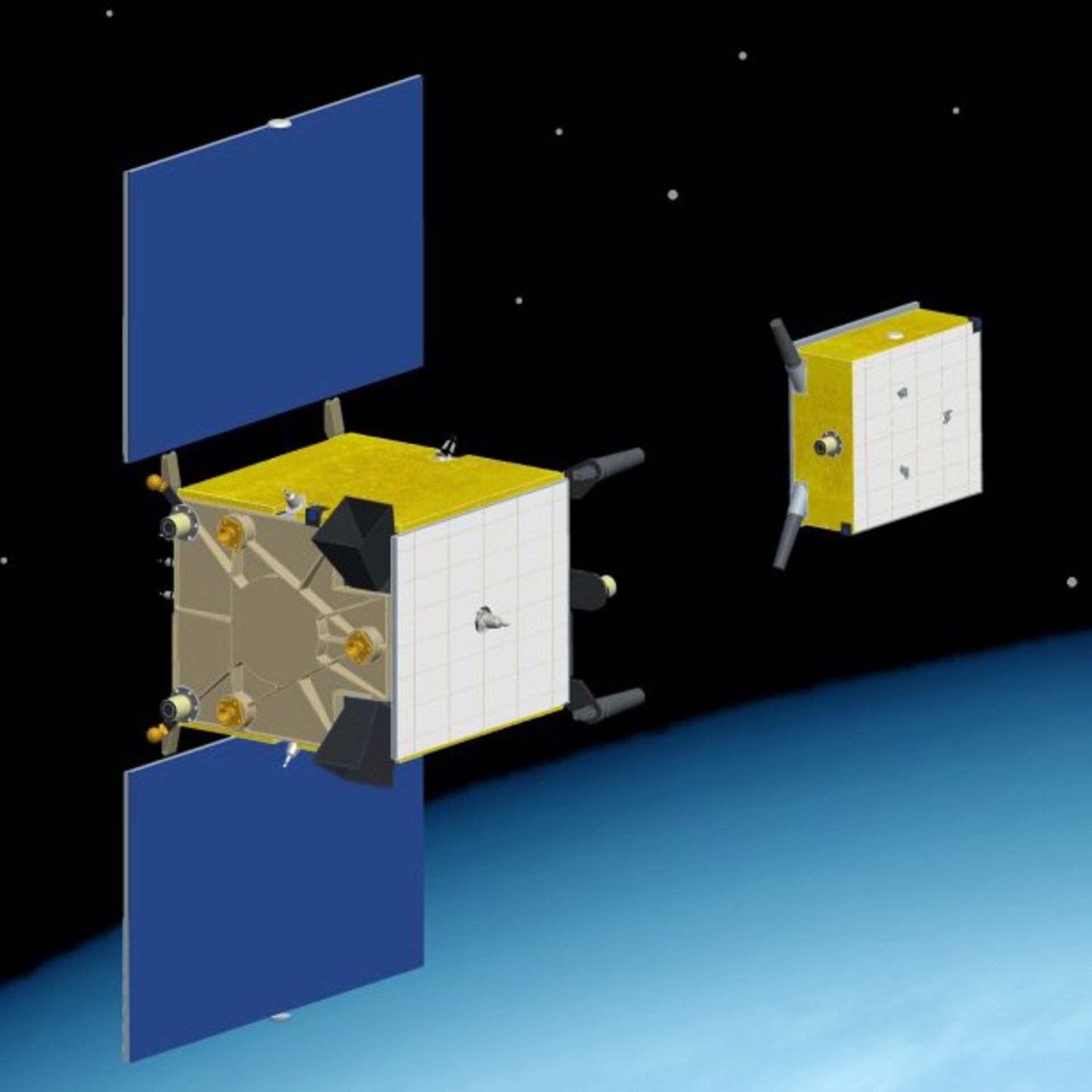 Prisma's Tango and Mango satellites