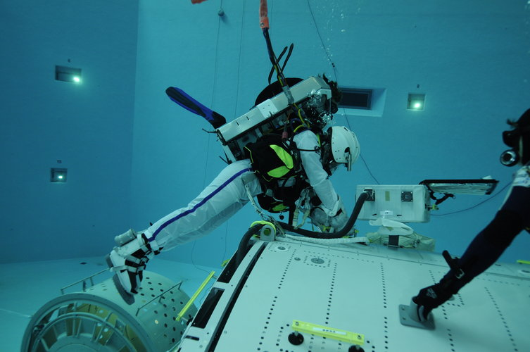 Samantha Cristoforetti during EVA training