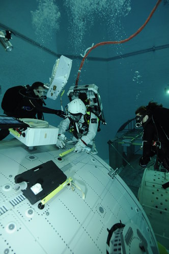 Thomas Pesquet during EVA training