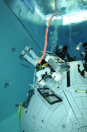 Timothy Peake during EVA training