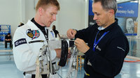 Timothy Peake during training