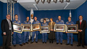 Ceremony marking the completion of ESA's new astronauts Basic Tr