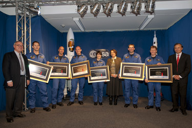 Ceremony marking the completion of ESA's new astronauts Basic Training