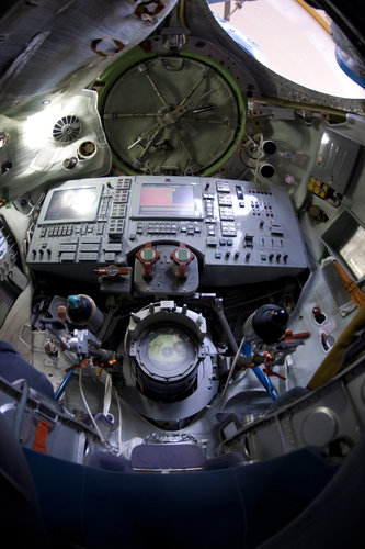 Interior of a Soyuz TMA simulator
