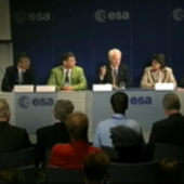 Asteroid threat media briefing at ESA/ESOC - video