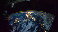 Parts of Europe and Africa from ISS
