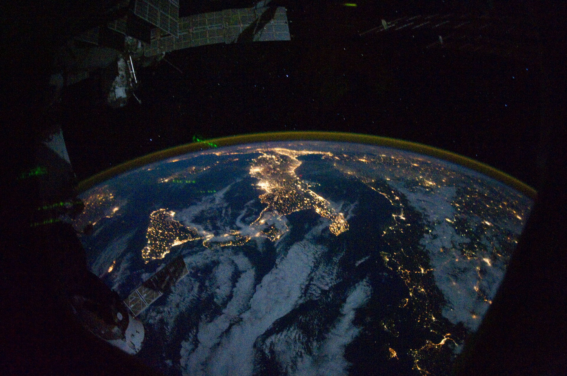 Nightly view of Europe and Africa