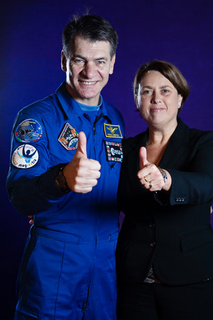 Paolo Nespoli and Simonetta Di Pippo photographed in Milan on 7 November 2010