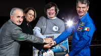 Paolo Nespoli and Simonetta Di Pippo with Fiorenzo Galli and Gio