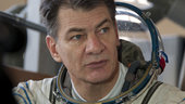 Paolo Nespoli training