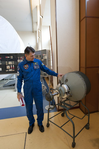 Paolo Nespoli during training at Star City
