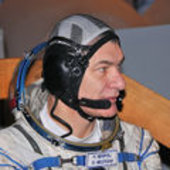 Paolo Nespoli in his flight suit
