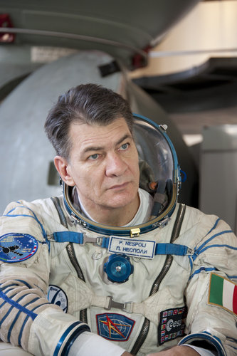Paolo Nespoli in his Russian Sokol suit