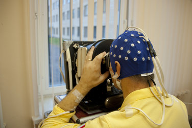 Paolo Nespoli in training for Neurospat experiment at Star City