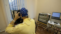 Paolo Nespoli in training for Neurospat experiment