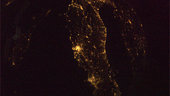 Florence, Rome, Naples as seen from ISS