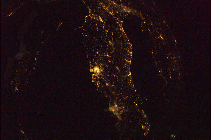 Imágenes nocturnas satélite