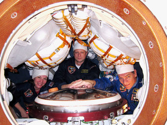 Inside the Soyuz
