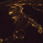 Italy as seen from ISS