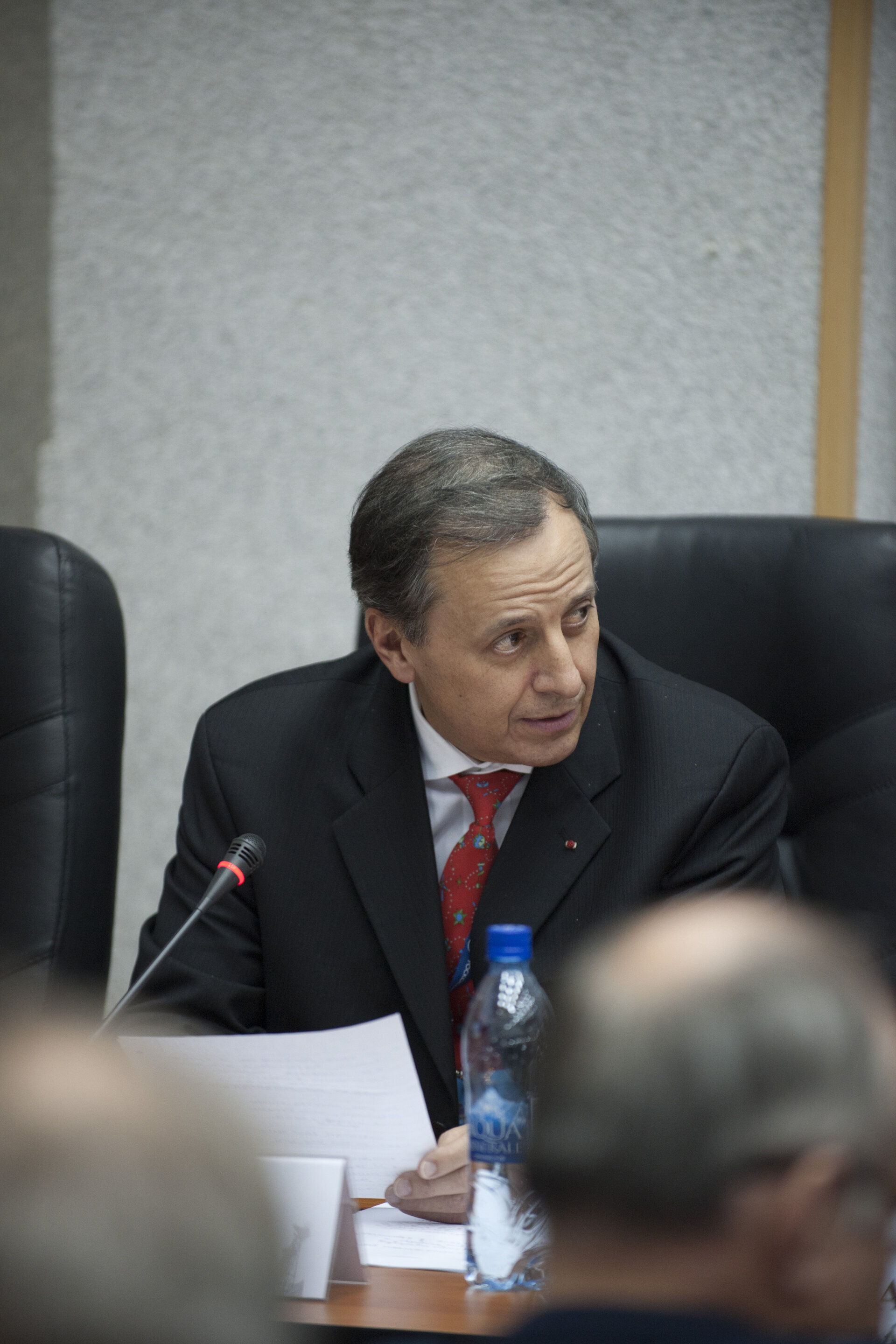 Michel Tognini during the State Commission meeting