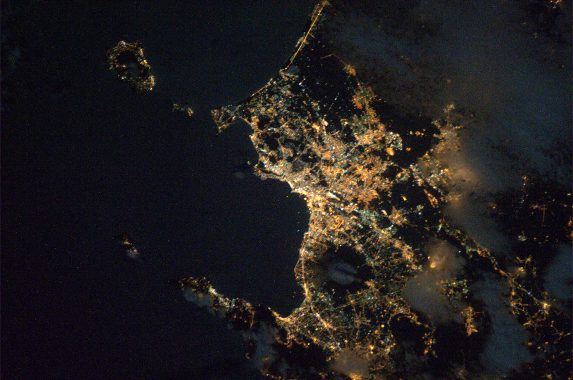 Naples and the Mount Vesuvius seen from ISS