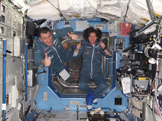 Paolo and Cady arrived at the Space Station