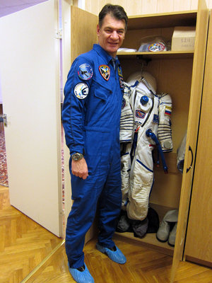 Paolo Nespoli with his Sokol suit