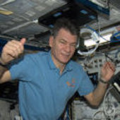 Paolo Nespoli in the European Columbus laboratory on ISS