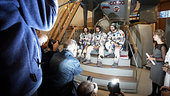 Soyuz TMA-20 crew meet the press at Star City