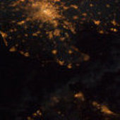 United Kingdom and Ireland as seen from ISS