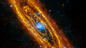 Andromeda Galaxy in infrared and X-rays