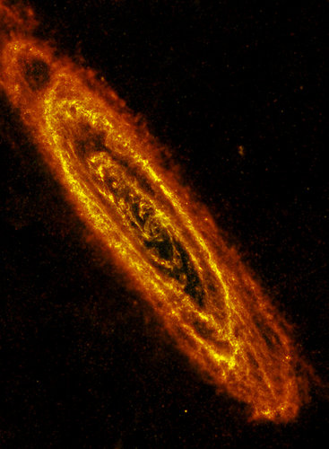 Andromeda Galaxy seen in infrared