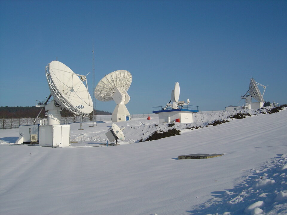 Antennas of the ESA ground station at ESEC