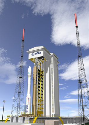 Artist's impression of Vega on launch pad