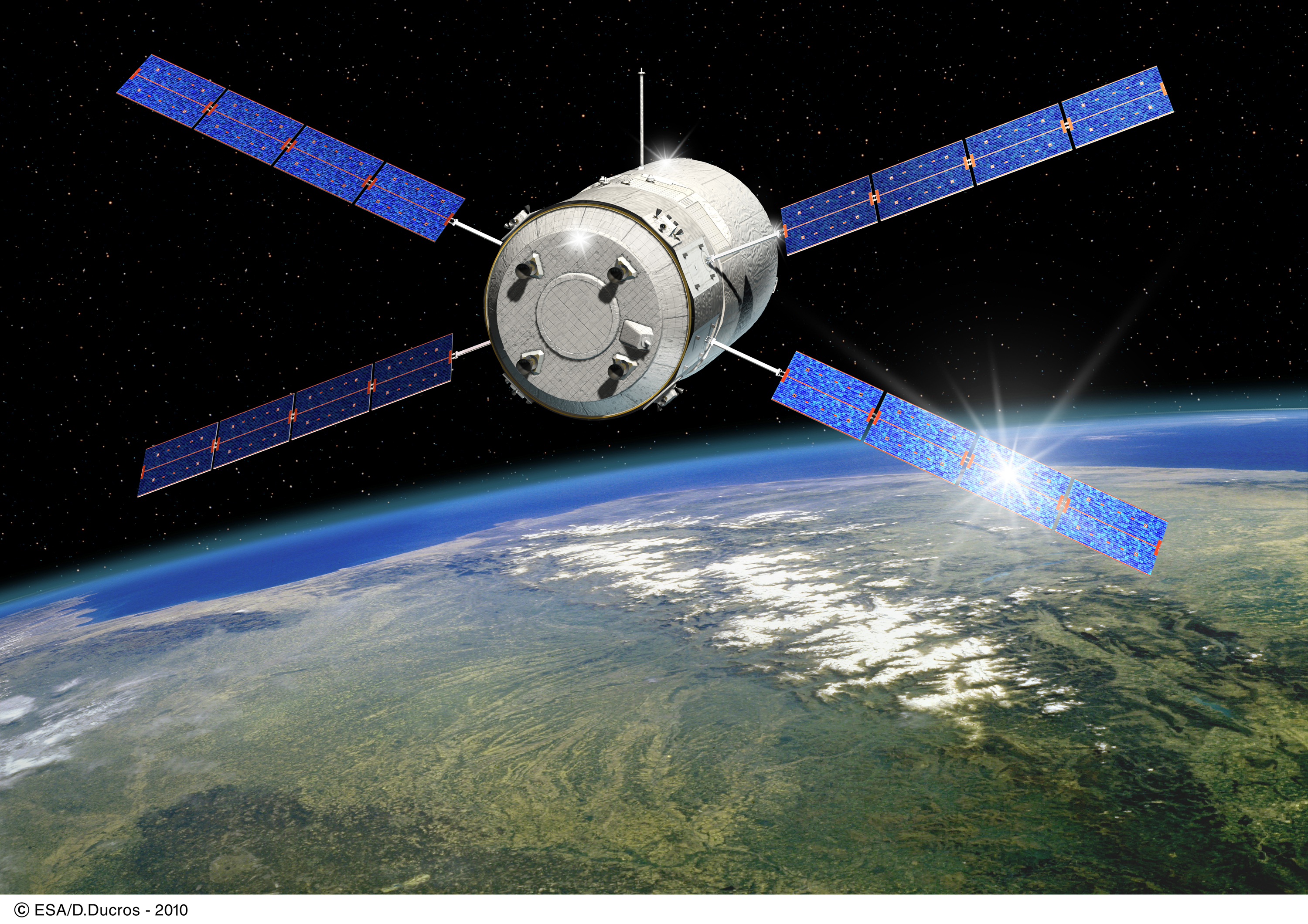 Space in Images - 2011 - 01 - Artist's view of ESA's ATV ...