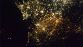 Athens by night as seen from ISS