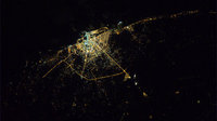 Benghazi by night as seen from ISS.