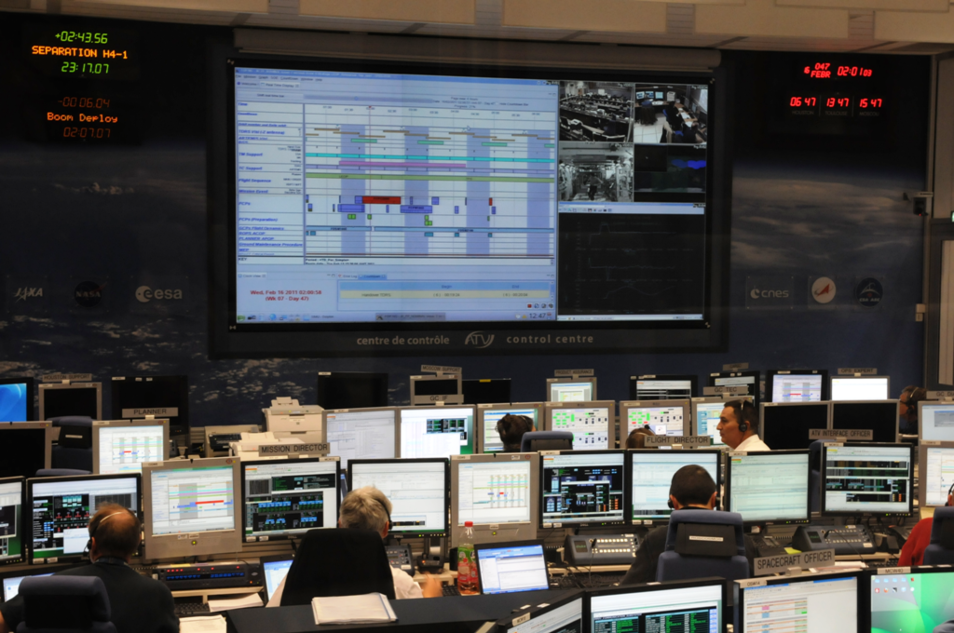 ESA's ATV Control Centre during simulation training 27 January 2011