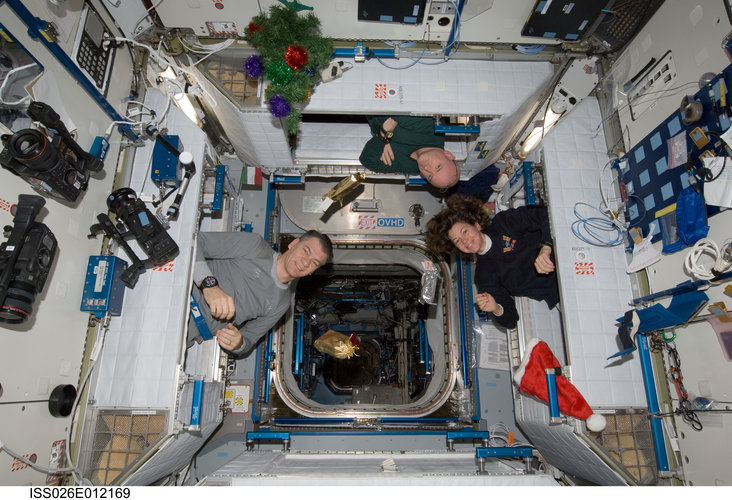 Expedition 26 crew members at Christmas