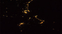 Gibraltar's Strait by night as seen from ISS