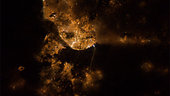 Lisbon by night as seen from ISS