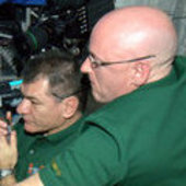 Paolo Nespoli and Scott J. Kelly