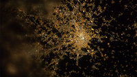 Milan by night as seen from ISS