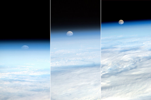 Moonrise as seen from ISS