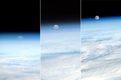Moonrise seen from Space Station