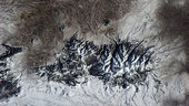 Mountain range in Montana, USA, as seen from ISS.